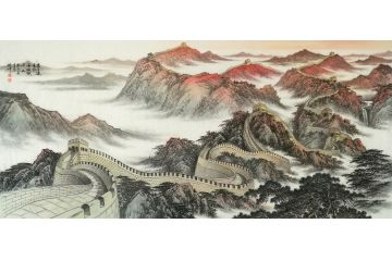 林德坤老師寫意長城作品《萬里連云際 長城鎖千山》