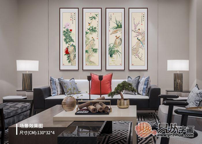 唯美客厅花鸟画,尽显家居艺术品味