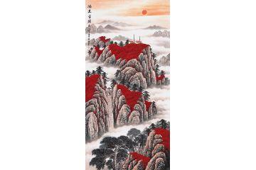 玄關必選泰山圖 李林宏新品風水畫《鴻運當頭》