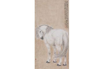 陳云鵬最新力作四尺豎幅駿馬圖作品《白馬》