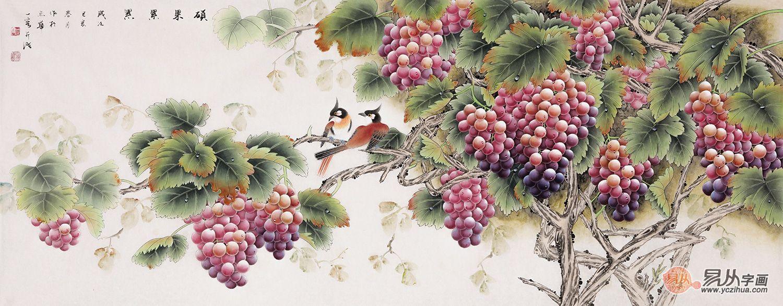 王一容工笔花鸟画
