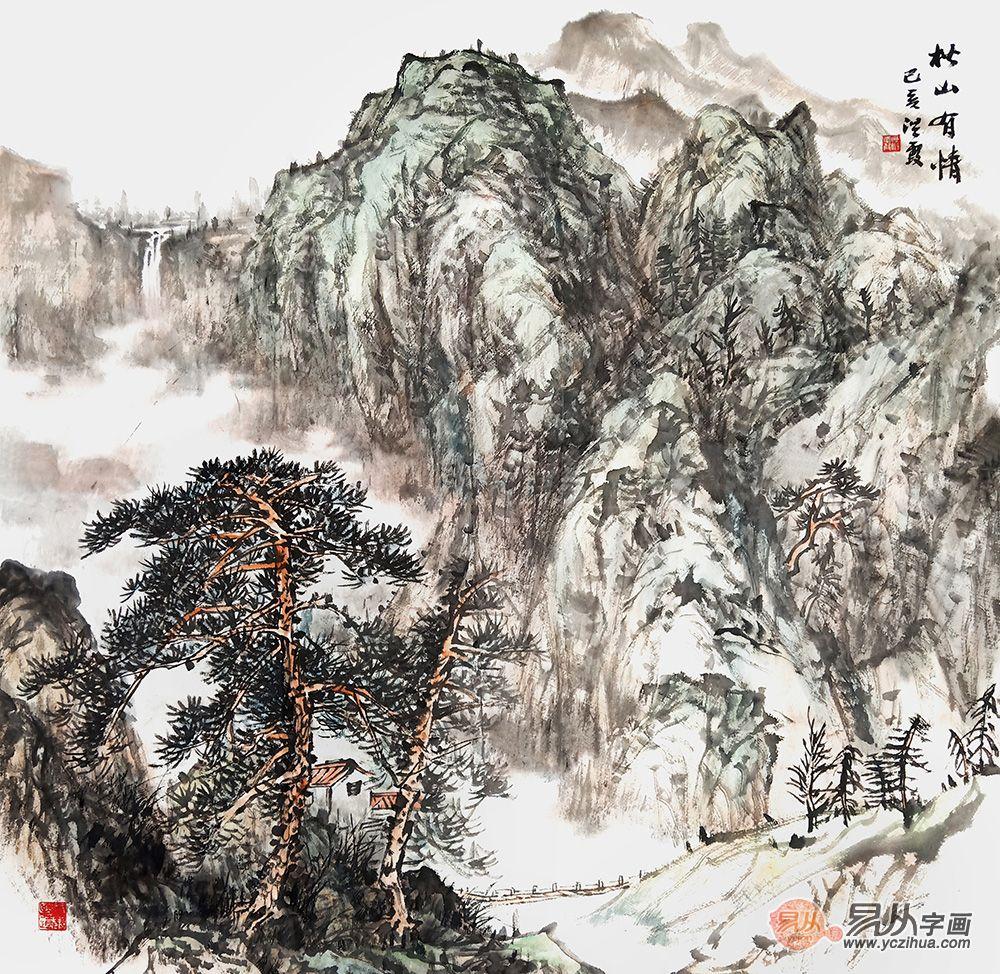 赵洪霞山水画作品赏析 赵洪霞 山水画