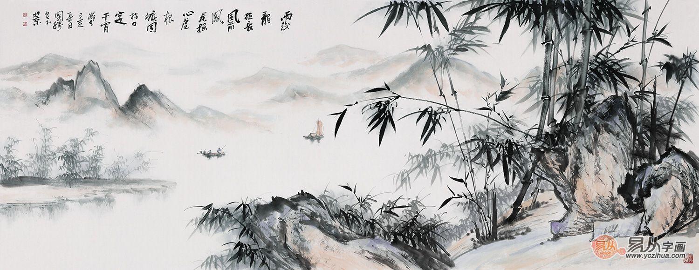 李国胜先生的竹子山水画作品怎么样