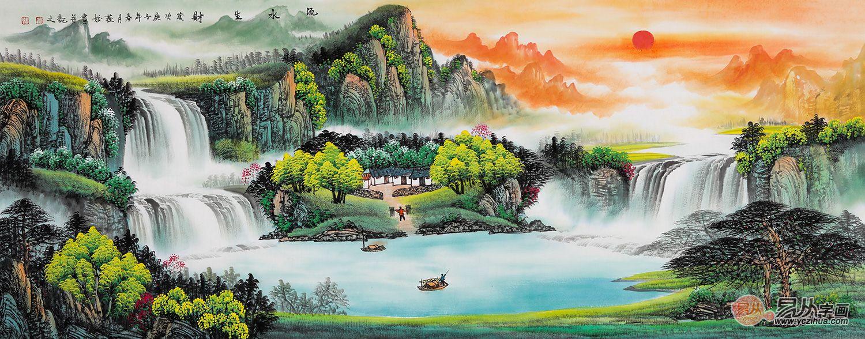 中式挂画的作用彰显在何处?这几方面是山水画的精髓所在
