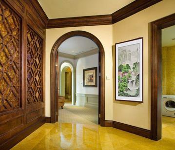玄關走廊掛畫,李林宏寫意青綠山水畫《祥瑞聚福圖》