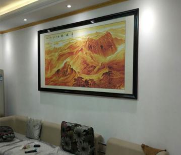 國畫萬里長城 李林宏山水畫長城經典構圖《長城雄風》